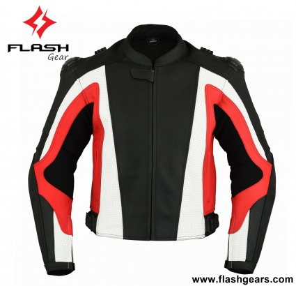 Red Black Leather men Pro Racing Jackets