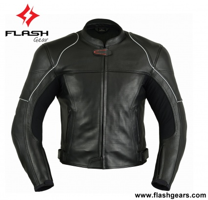 Black Leather Men Pro Racing Jackets