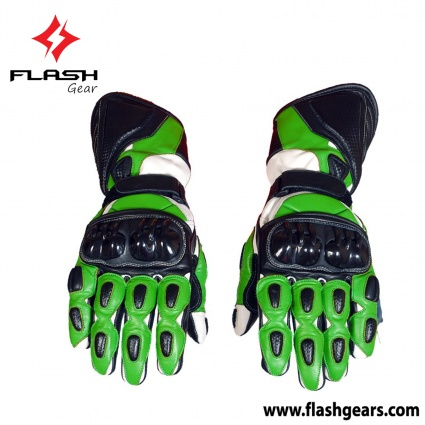Flash Gear Motocross Leather Race Gloves