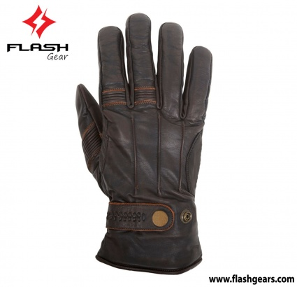 Flash Gear Vintage Cafe Race Gloves