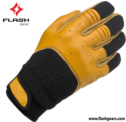 Flash Gear Goat Leather Cafe Race Gloves