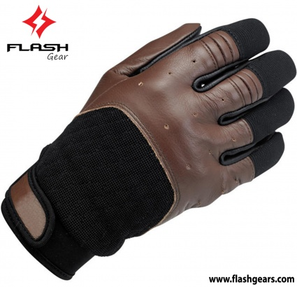 Flash Gear Tobacco Brown Cafe Race Gloves