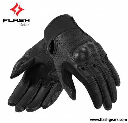 Flash Gear Short Cuff Leather Gloves