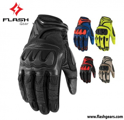Flash Gear Summer Leather Short Cuff Gloves