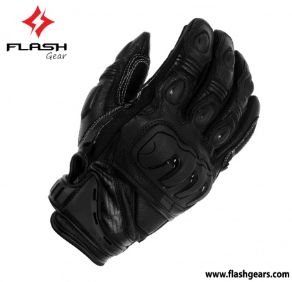 Flash Gear Short Cuff Motorcycle Gloves