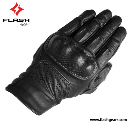 Flash Gear Fashion Short Cuff Motorcycle Gloves