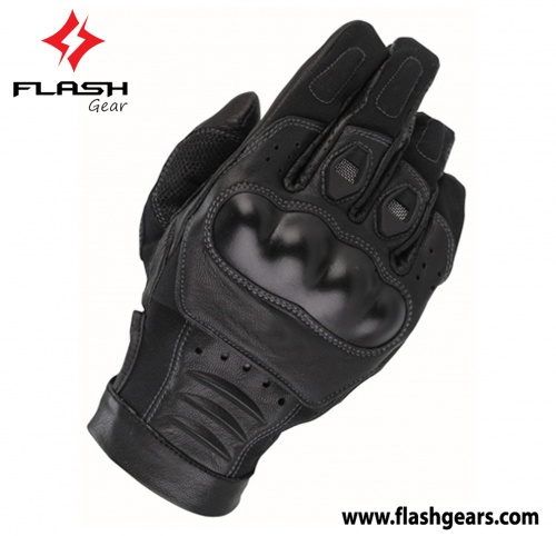 Flash Gear Motorcycle Protective Leather Gloves