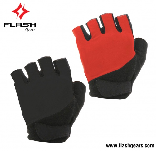 Flash Gear Men Best Quality Half Finger Cycling Gloves