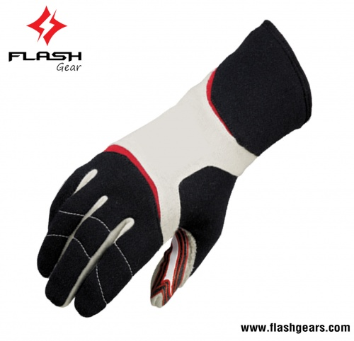 Flash Gear Fireproof Nomex Kart Gloves