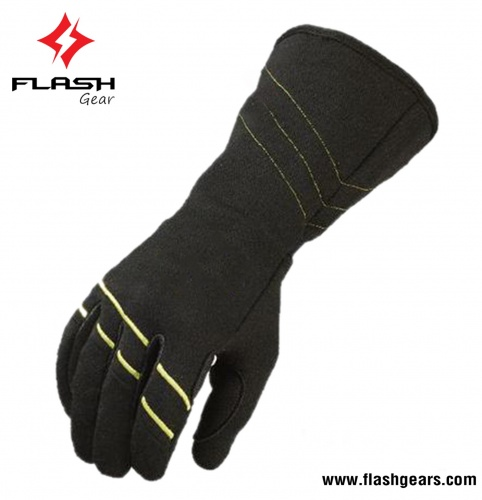 Flash Gear High Viz Constructed Nomex Kart Gloves 2019