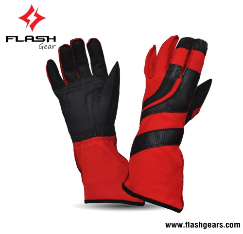 Flash Gear Nomex Leather Kart Racing Gloves